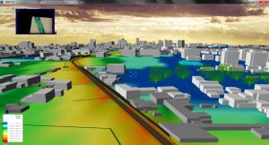 Modello acustico - Vista 3D del tracciato