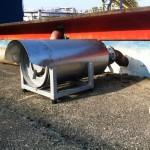 Silenziatore reattivo sfiato motopompa antincendio