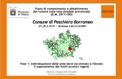 Piano di contenimento del rumore rete stradale Provincia di Milano