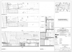 Disegni di progetto - Sezione facciata