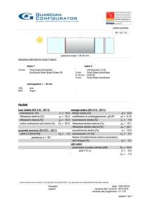 Scheda tecnica produttore vetrate