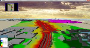 Modello acustico – Vista 3D