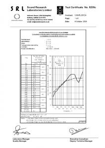 Certificato fonoisolamento nuovo pannello installato