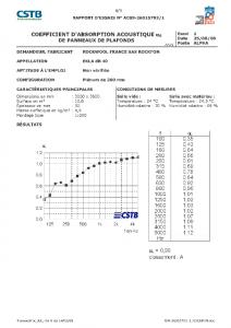 Certificato fonoassorbimento nuovo pannello installato