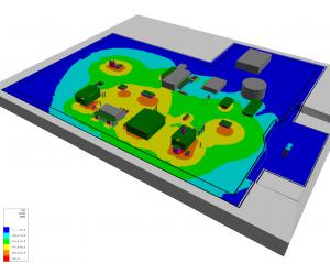 Vista modello acustico 3D
