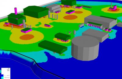 Studio acustico progetto centrale di compressione gas in Congo